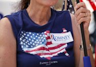 A supporter of Republican presidential candidate Mitt Romney waits for Sarah Palin, former Governor of Alaska and 2008 Republican vice presidential candidate, to speak at the &quot;Patriots in the Park&quot; Tea Party rally at the Wayne County Fairgrounds July 14, 2012 in Belleville, Michigan