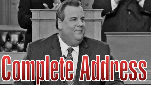 Gov. Christie's complete State of the State Address