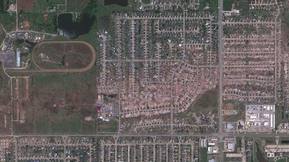 Moore Tornado Damage Revealed in Google Maps Image