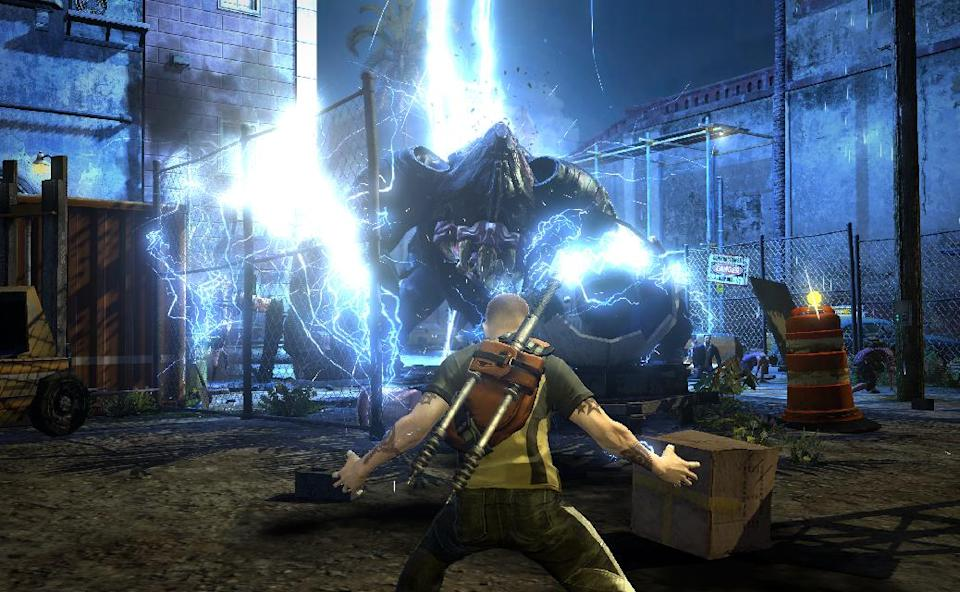 "In this video game image released by Sony Computer Entertainment, a scene is shown from ""inFamous 2."" (AP Photo/Sony Computer Entertainment)"