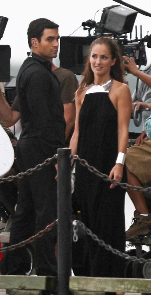 Ramon Rodriguez Minka Kelly On Set