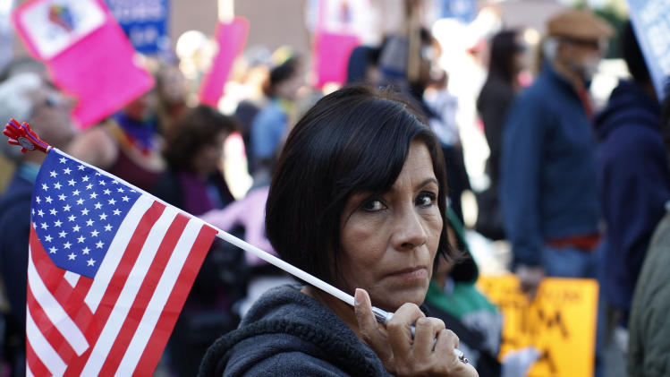 Occupy Protesters March In Downtown L.A.