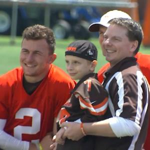 Cleveland Browns sign nine year old Dylan Sutcliffe