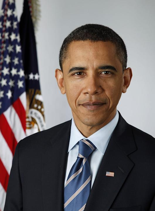 Portrait officiel de Barack Obama, 44e Président des Etats-Unis. White House