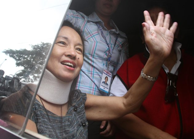 Still a turbulent year for Gloria. Various graft and corruption cases continue to hound ex-President and Pampanga Rep. Gloria Macapagal-Arroyo. A Pasay City court allowed Arroyo to post P1-million bail in connection with her electoral sabotage case on July 25 or after seven months of hospital arrest at the Veterans Memorial Medical Center (VMMC). Diagnosed with hypoparathyroidism, Arroyo went in and out of VMMC for therapy while her counsels tried legal means that could allow her to seek medication abroad after gaining temporary freedom. After almost three months of staying in her Quezon City home, Arroyo went back to be confined at the Quezon City hospital following Sandiganbayan's order to arrest her on October 5. Arroyo, who also faces plunder charges for allegedly misusing P365-million state lottery's intelligence funds, was rushed to intensive care unit over ischemia a week after. She also refused to enter a plea during the arraignment on the same case on October 29. (Photo by NPPA Images)