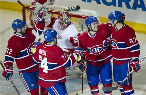 Canadiens' 7-2 win ends Red Wings' win streak at 7