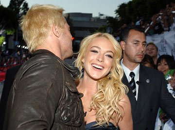 Brad Pitt and Lindsay Lohan at the Los Angeles premiere of 20th Century Fox's Mr. & Mrs. Smith