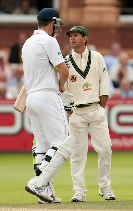 Kevin Pietersen, left, has hailed Ricky Ponting after the Australian legend announced his Test retirement