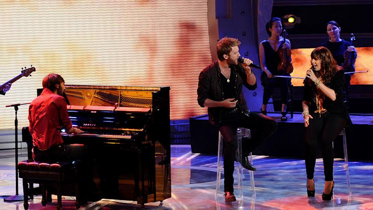 "Lady Antebellum performs ""Just a Kiss"" on ""American Idol."""