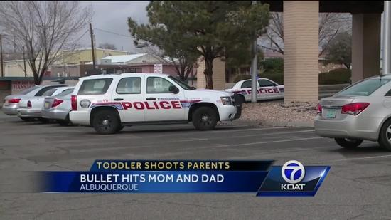 Toddler shoots father, pregnant mother at New Mexico motel