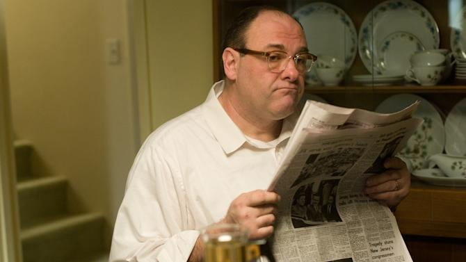 "FILE - This publicity film image released by Paramount Vantage shows James Gandolfini, as Pat, in a scene from the film ""Not Fade Away."" In the five years since ""The Sopranos"" ended, Gandolfini has eschewed the spotlight, instead disappearing into character actor performances such as this one. These roles, while they may lack the iconography of Tony Soprano, have only further proved the actor's wide-ranging talent. (AP Photo/Paramount Vantage, File)"