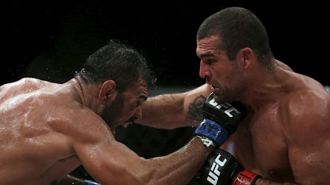 Nogueira of Brazil fights with Rua of Brazil during their UFC match in Rio de Janeiro