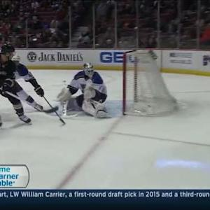 Andrew Cogliano scores breakaway on Elliott