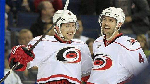 Tlusty has 2 goals in Hurricanes' win