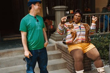 Director Brian Robbins and Eddie Murphy on the set of DreamWorks Pictures' Norbit