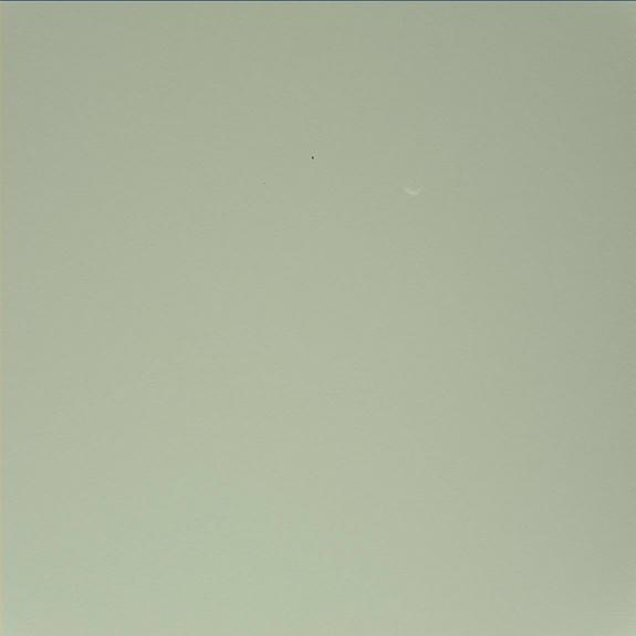 Mars Rover Curiosity Photo Reveals Crescent Moon Phobos