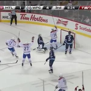 Brendan Gallagher Goal on Ondrej Pavelec (11:37/3rd)