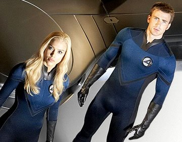 Jessica Alba and Chris Evans from 20th Century Fox's Fantastic Four: Rise of the Silver Surfer