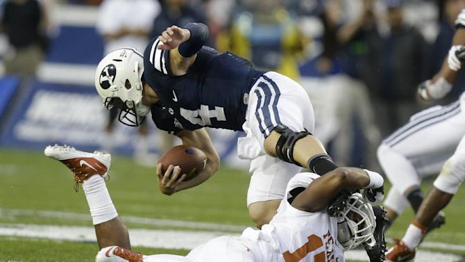Hill leads BYU to 40-21 win over No. 15 Texas