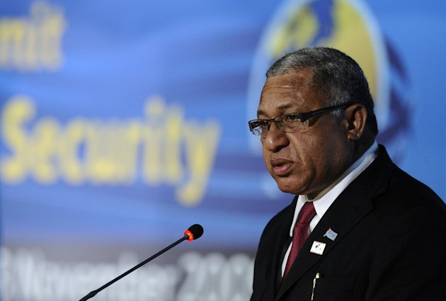 Fiji's military ruler, Voreqe Bainimarama, pictured in Rome, on November 17, 2009
