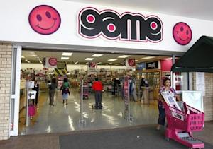A shopper leaves the Game store in South Gate mall south of Johannesburg
