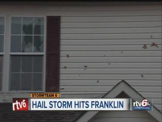 Indiana homeowners assess damage caused by heavy hail storm