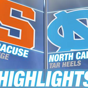 Syracuse vs North Carolina | 2014-15 ACC Men's Basketball Highlights