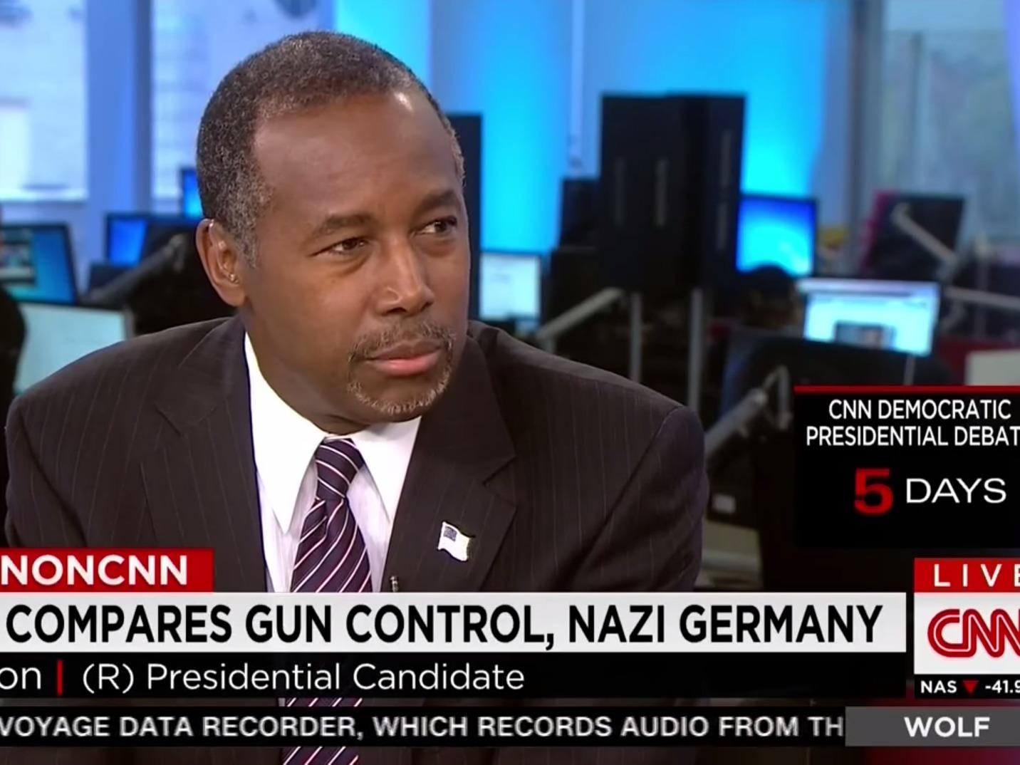 Ben Carson: Hitler may have been stopped if the German public were armed