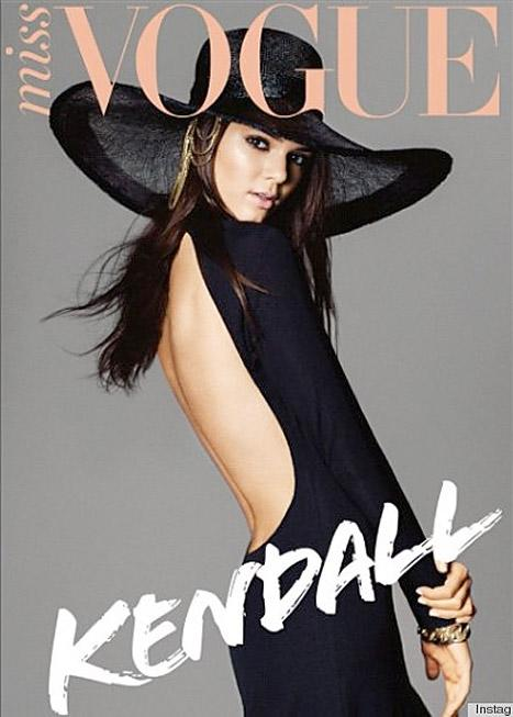 PICTURE: Kendall Jenner Wears Backless Dress, Wide-Brimmed Hat On Miss Vogue Cover
