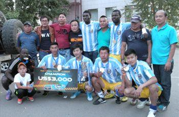 Inter FC wins the national leg champions of Tiger Street Football Mongolia
