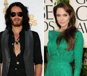 Russell Brand, Angelina Jolie -- Getty Images