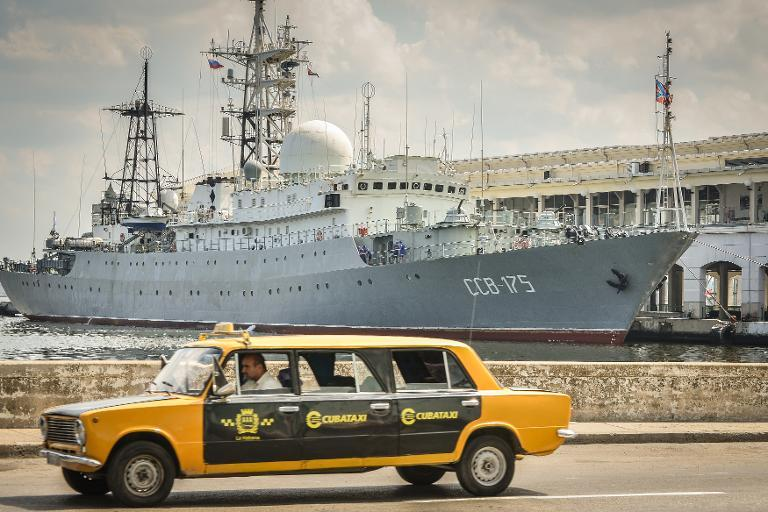 Russian spy ship docked in Havana