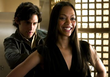 Milo Ventimiglia and Zoe Saldana in Green Diamond's Dirty Deeds