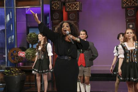 "Oprah Winfrey performs on ""The Tonight Show with Jay Leno"" in Burbank"
