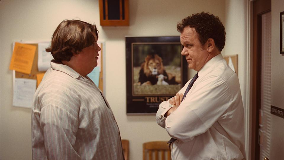"In this publicity image released by ATO Pictures, Jacob Wysocki, left, and John C. Reilly are shown in a scene from ""Terri."" (AP Photo/ATO Pictures)"