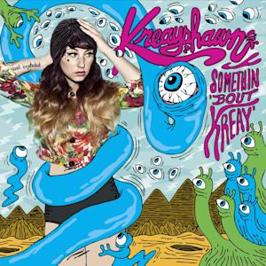"This CD cover image released by Columbia Records shows the latest release by Kreayshawn,""Somethin 'Bout Kreay."" (AP Photo/Columbia Records)"