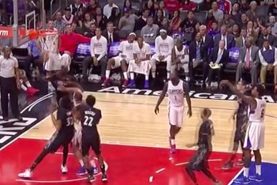 DeAndre Jordan, professional basketball player, just airballed back-to-back free throws