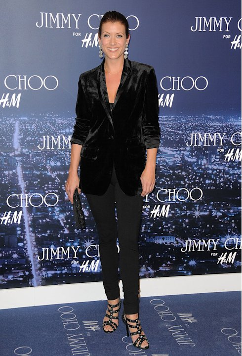 Kate Walsh arrives at Jimmy Choo For H&M at a private residence on November 2, 2009 in West Hollywood, California.