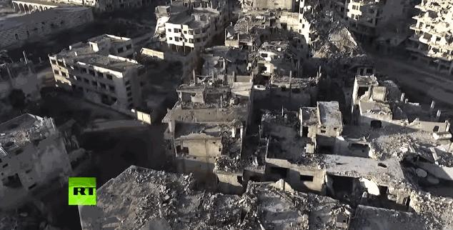 This Haunting Drone Footage of a Syrian City Reveals Just How Devastated the Country Is