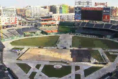 Watch Nationals Park become the Winter Classic's hockey rink in 30 seconds