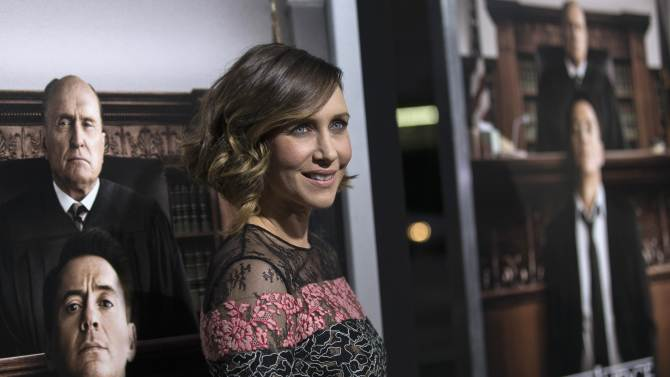 "Cast member Farmiga poses at the premiere of ""The Judge"" at the Academy of Motion Picture Arts and Sciences in Beverly Hills"