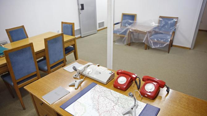 An office for meetings and coordination is seen in Josip Broz Tito's underground secret bunker (ARK) in Konjic