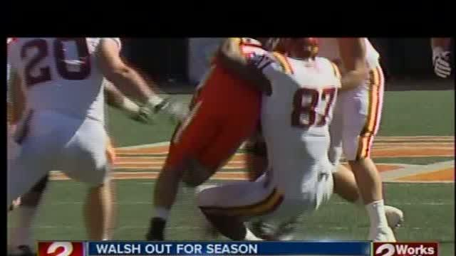 J.W. Walsh out rest of season with knee injury