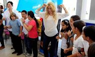 Shakira Promotes Education In Israel