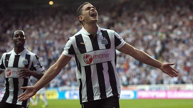 Newcastle United's Hatem Ben Arfa celebrates scoring his winner against Tottenham (PA Photos)