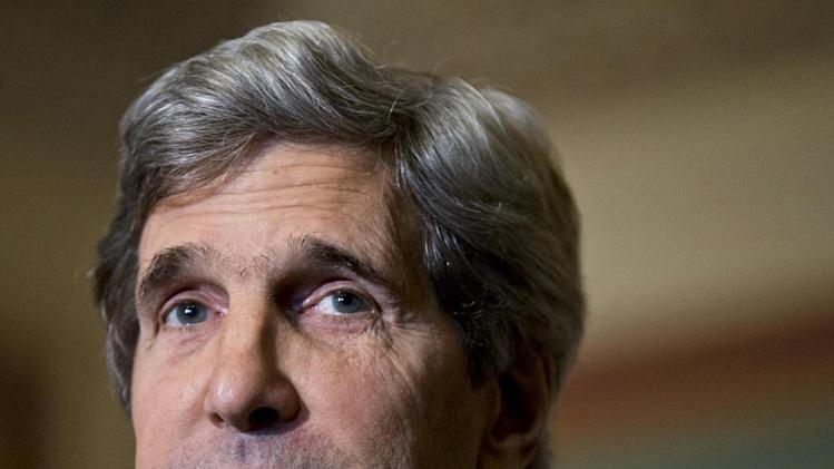"""FILE - This Dec. 3, 2012 file photo shows Senate Foreign Relations Chairman Sen. John Kerry, D-Mass., at a news conference on Capitol Hill in Washington. The top contenders for the """"big three"""" jobs in President Barack Obama's Cabinet are white men, raising fresh concerns among Democratic women about diversity in the president's inner-circle. Their long-simmering worries were rekindled after Susan Rice withdrew under pressure from consideration as the next secretary of state. (AP Photo/J. Scott Applewhite, File)"""