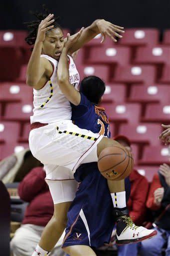 No. 9 Maryland women beat Virginia 79-55