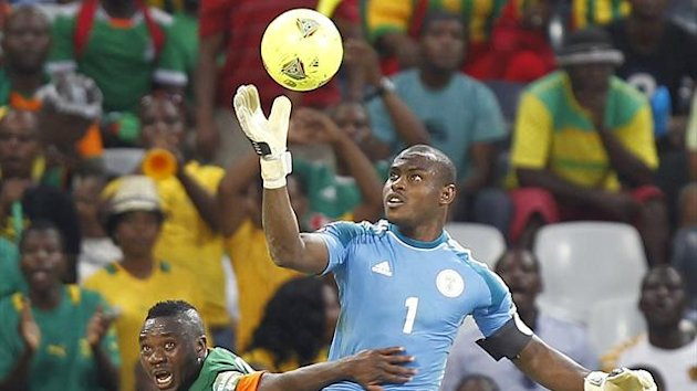 Nigeria keeper Vincent Enyeama in action against Zambia