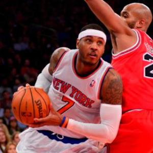Carmelo Lights Up Bulls