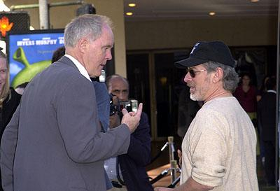 Premiere: John Lithgow and Steven Spielberg at the Westwood, CA premiere of DreamWorks Pictures' Shrek - 4/22/2001